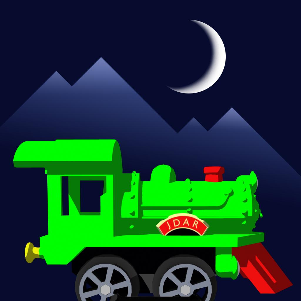 Горный поезд 3D